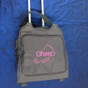 Thirty one gifts rolling  carry on cheer bag💔